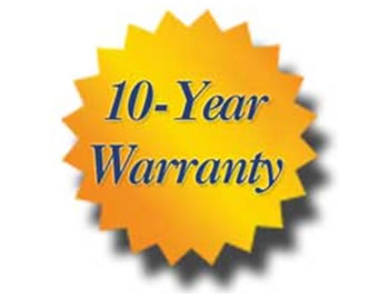 10 year warranty on ceramically enhanced industrial transducers fitted to all ultrasonic tanks supplied
